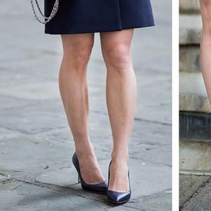 Ann Taylor Shoes - [Ann Taylor] Navy Mila Leather Pumps